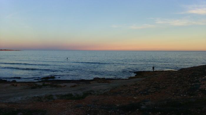 Paddel surf y pesca en Cabo Roig