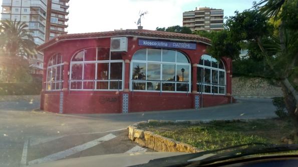 restaurante kiosko de fina es una glorieta en Campoamor