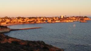 vistas desde el paseo de aguamarina sobre cabo roig