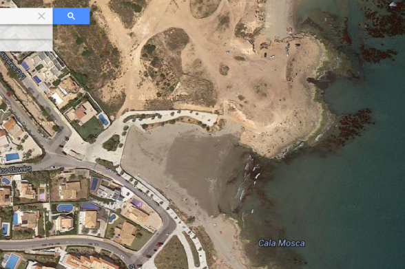 map vista satelite de Cala Mosca