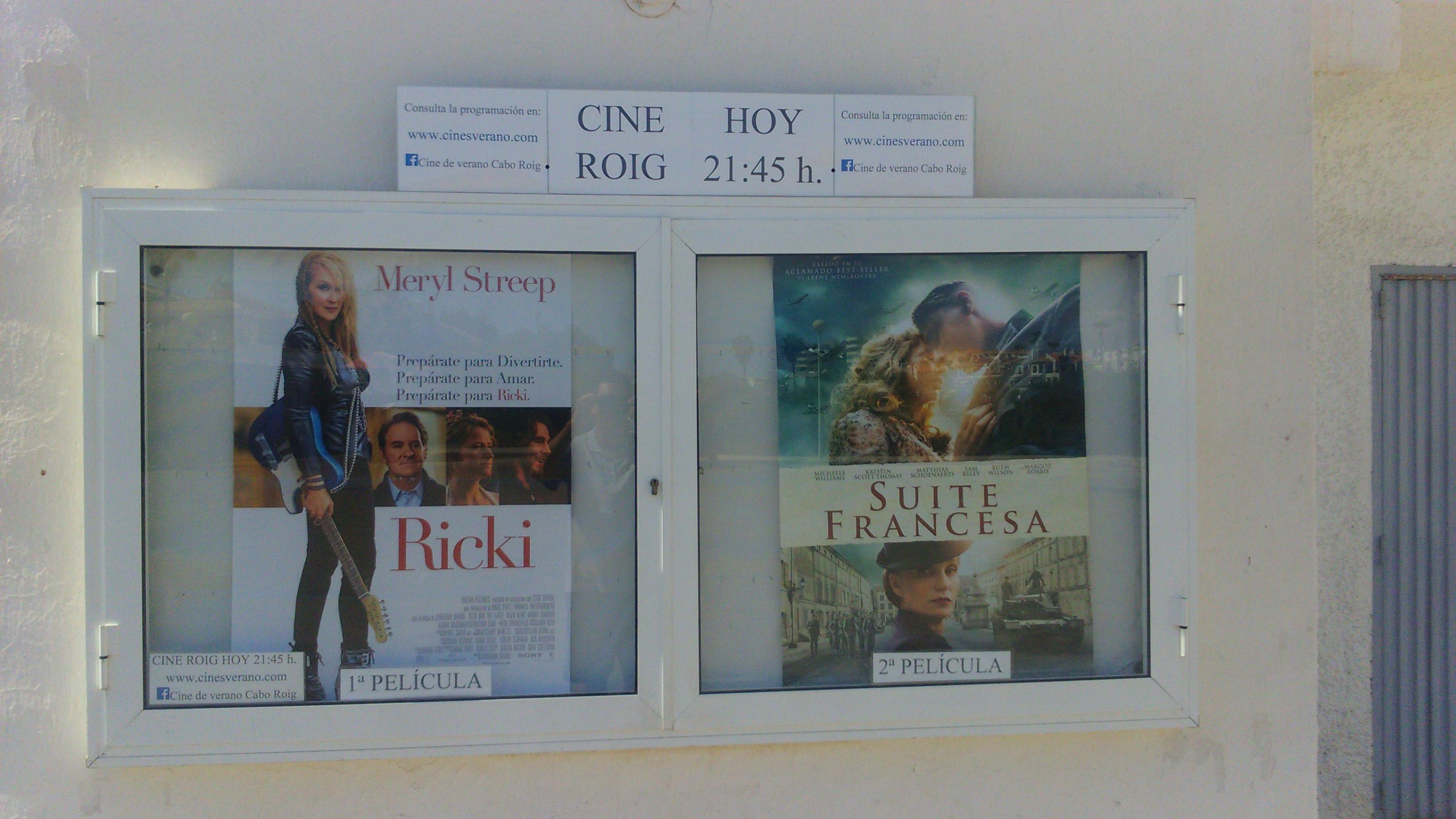 Cartelera doble sesión Cine de verano Cabo ROig