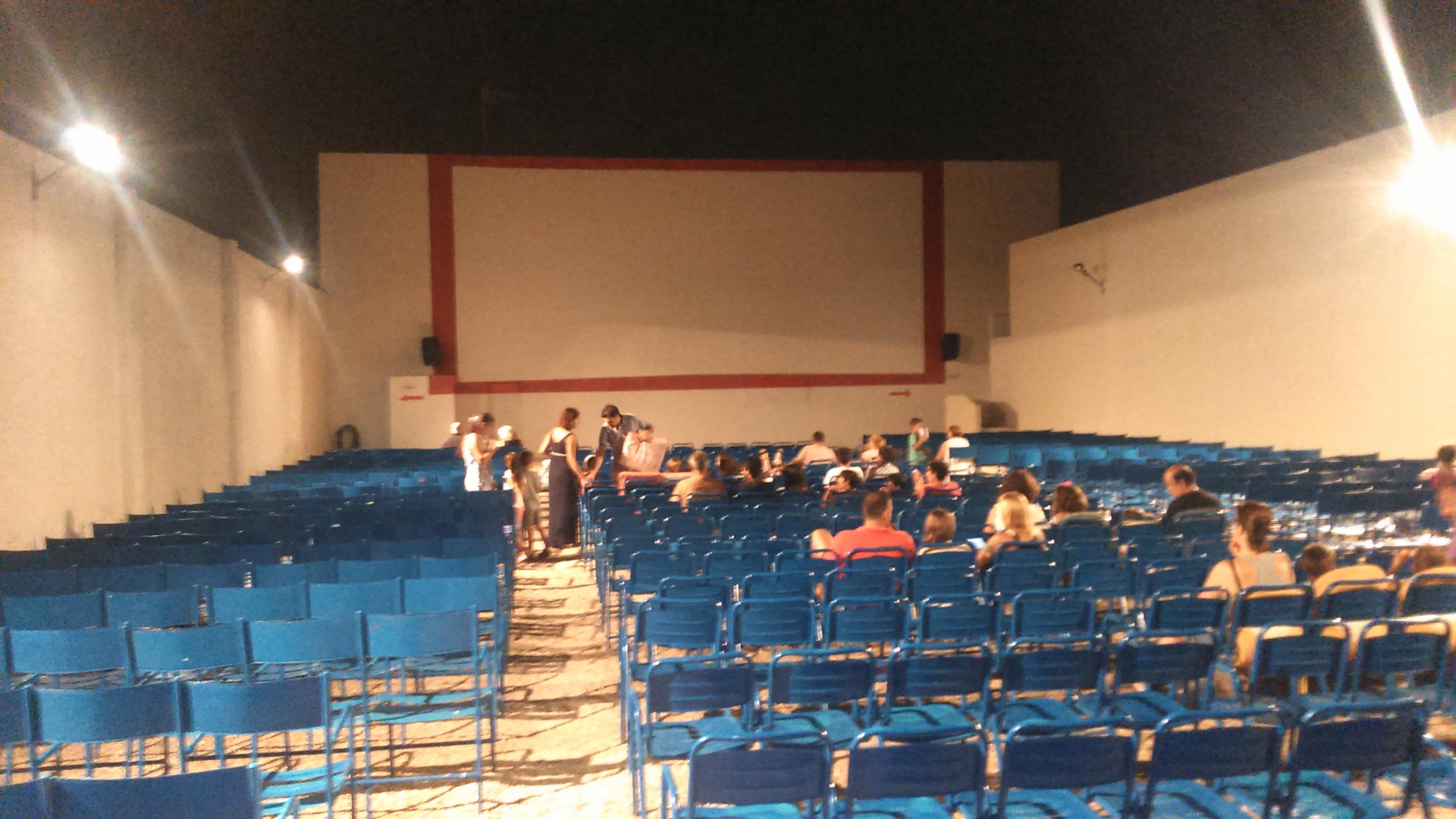 patio de butacas del cine de verano de CAbo ROig