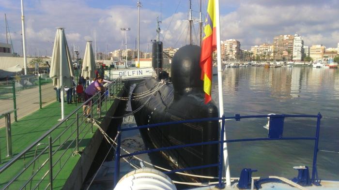 Submarino Delfin en Torrevieja. Museos Flotantes Torrevieja