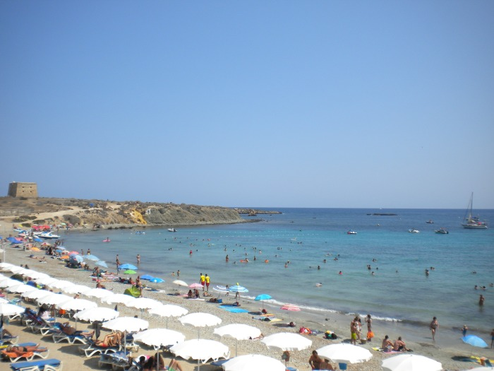 playa central en ISla Tabarca